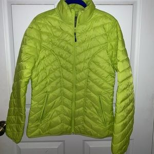 Trek Gear jacket, size M, worn once, lime green